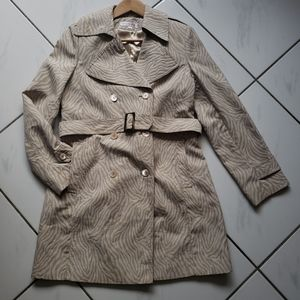 Via Spiga trench coat animal print belted lined